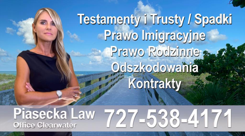 Clearwater Polscy adwokaci Floryda Polski adwokat prawnik Floryda Testamenty Trusty Spadki Prawo Imigracyjne Rodzinne Odszkodowania Kontrakty Wypadki